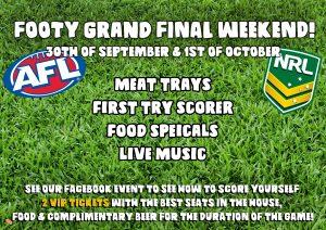 Footy Grand Final Weekend