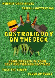 AUSTRALIA DAY ON THE DECK