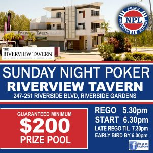 NPL Poker @ Riverview Tavern | Douglas | Queensland | Australia