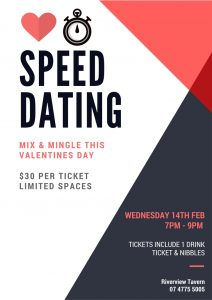 Poster for speed dating